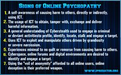 Online Psychopathy Image 88  Provided here is the link to iPredator's updated Online Psychopathy page presenting the traits of Online Psychopaths. At the base of the page, click on the PDF button to download the PDF paper. No personal information is required to download. Visit iPredator to review or download, at no cost, information about online psychopaths and the online psychopathy checklist by Michael Nuccitelli, Psy.D. Link: https://www.ipredator.co/ipredator/online-psychopaths/