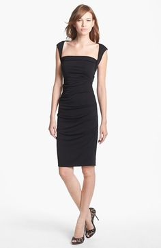 Nicole Miller Ruched Jersey Pencil Dress
