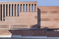 Image 18 of 58 from gallery of Central Canteen of Tsinghua University / SUP Atelier + School of Architecture Tsinghua University. Photograph by Xia Zhi Facade Architecture, School Architecture, Brick Face, Masonry Construction, Tsinghua University, Glazed Brick, Cladding Materials, Brick Detail, Facade Design