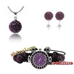 FW-2091  Shamballa Set With Bracelet-Watch/Earring/Necklace Pendant #watch #wristwatch #womenwatch #girlswatch #quartzwatch #rhinestone #fashion #famousbrand #brandwatch #watchfashion #brand #famous