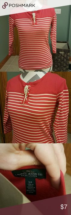 RALPH LAUREN TOP SIZE SP!!! Super cute spring top worn a couple times in good condition no flaws.. Ralph Lauren Tops Tees - Long Sleeve