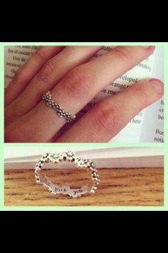Promise ring Cute gift from him For your girlfriend Flowers
