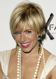 Sienna Miller pixie- go to short hairstyle