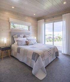 Image result for a row of small windows up high above the bed