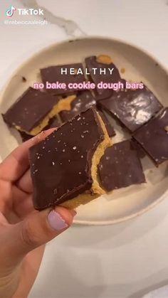 Healthy No Bake Cookies, Healthy Sweets, Healthy Baking, Healthy Sweet Snacks, Healthy Food, Fun Baking Recipes, Cookie Recipes, Vegan Recipes, No Bake Cookie Dough