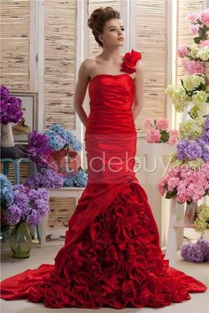 New Style Mermaid One-shoulder Floor-length Court Train Daria's Evening/Party Dress : Tidebuy.com