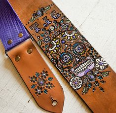 Custom Leather Guitar Strap  Acoustic or Electric  by MesaDreams