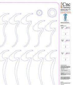 Lámpara Medusa Aurelia - 6 diferentes medidas y espesor opciones dentro del archivo zip! Con la descarga dentro del archivo zip encontrarás: Archivos optimizados para máquina de corte láser Archivos optimizados para máquina del ranurador del CNC (conjunto de huesos de perro!) Prueba hoja