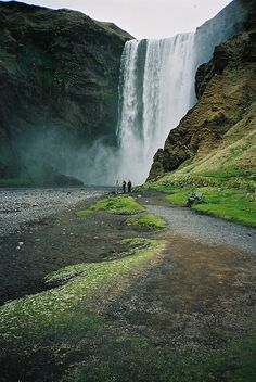 Skogafoss waterfalls, Near Vik, Iceland.