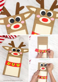 This reindeer puppet craft for kids is made from a brown paper bag and colored paper. Make this Rudolph craft for Christmas! It's easy thanks to our free printable template. Great for preschool, pre k and kindergarten. Christmas Crafts For Kids To Make, Preschool Christmas, Toddler Christmas, Christmas Bags, Reindeer Christmas, Christmas Activities, Paper Bag Crafts, Puppet Crafts, Holiday Crafts