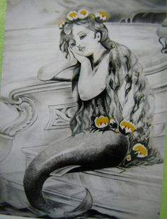 Mermaid - Painting by Sai Aggarwal in My Art Work at touchtalent 66394