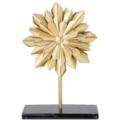 Nate Berkus Decorative Starburst Figural - Black/Gold