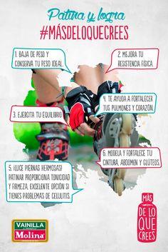 Invita a tu #familia y #amigos a #patinar contigo y disfruten de los grandes beneficios que este #deporte trae a la #salud. No olvides usar casco, rodilleras y coderas para protegerte de cualquier lesión.