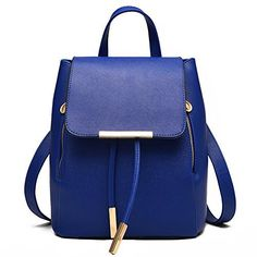 New Trending Backpacks: Vincico174; Womens Blue Casual Purse Fashion School Leather Backpack Shoulder Bag Mini Bags. Vincico174; Womens Blue Casual Purse Fashion School Leather Backpack Shoulder Bag Mini Bags   Special Offer: $24.98      377 Reviews Color: Black Material: PU leather Backpack Dimension: 23*28*16cm/9.0*11.0*6.2in (W*H*D) Interior: 1 x main pocket, 1 x zipper pocket, 2 x mini pocket Package...