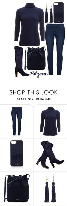 """Monday blues...."" by j-n-a ❤ liked on Polyvore featuring White + Warren, Vianel, Loro Piana, Mansur Gavriel and Kenneth Jay Lane"