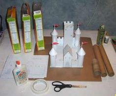 This is a complete project that shows you how to make a medieval castle out of paper and cardboard. I give you all the templates and instructions. The project takes about 2-4 hours to complete depending on your skill level. (Storm the Castle)