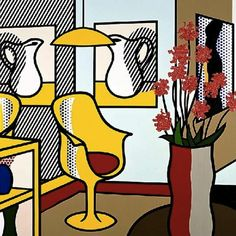 ROY LICHTENSTEIN  saarinen chair