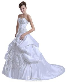 Faironly White Ivory Empire Wedding Dress Bridal Gown Stock Size 6 8 10 12 14 16