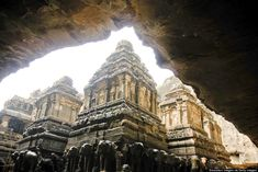 Buddhist cave temples: http://www.huffingtonpost.com/2014/02/15/buddhist-cave-temples_n_4775101.html  This particular shot is from the Ellora Caves in Maharashtra, India.  #travel #temples