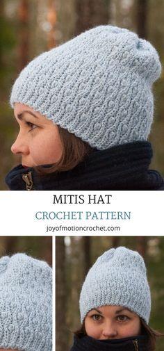 Mitis Hat crochet pattern. Crochet hat textured. Crochet hat DIY. Crochet beanie for women. Crochet beanie ribbed. #crochetpattern #crochethat #crochet #crochetbeanie #crochetbeaniepattern