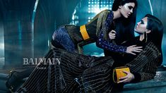 Kendall and Kylie Jenner for BALMAIN FALL 2015 CAMPAIGN