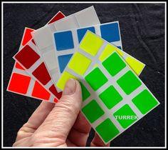 Adesivo Cubo Mágico Moyu 3x3 56a57mm P/ Dayan, Rubik, Shengs - R$ 9,80 no MercadoLivre
