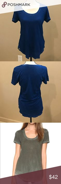 Cotton Citizen Scoop tee Cotton Citizen Royal Blue Mykonos Scoop Tee. A super-soft Cotton Citizen tee cut from slubbed jersey. Round hem. Scoop neckline. Short sleeves. Worn Once. Great Condition.  Fabric: Slubbed jersey. 50% cotton/50% modal. Wash cold. Made in the USA.  Measurements Length: 27.25in / 69cm, from shoulder Measurements from size S Cotton Citizen Tops Tees - Short Sleeve