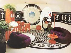 70s Home Decor, Vintage Home Decor, 1970s Decor, Retro Interior Design, Retro Design, Retro Room, Vintage Interiors, Store Interiors, Modern Interiors