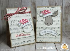 stampin up blog jolly friends geschenktüte gift bag punchboard christmas santa verpackung