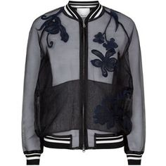 Embroidered Organza Bomber Jacket - Phillip Lim