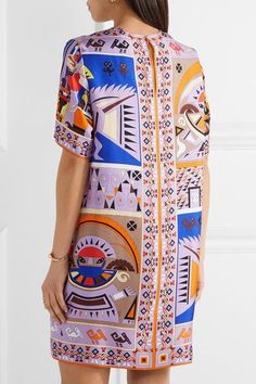 Emilio Pucci - Printed Silk-twill Dress - Lilac