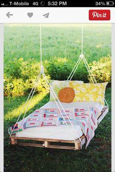 HomeMade hammock!                                                                                                                                                     More