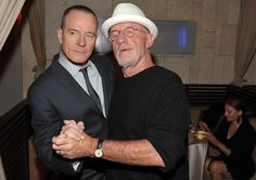 Breaking Bad Season 5 Premiere Party Photos  Bryan Cranston (Walter White) and Jonathan Banks (Mike)  Photo by John Shearer/Invision for AMC #breakingbad #shows #tv