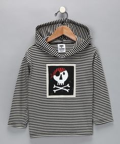 Get your big kid in on the black & white #skull fun with this great hoodie! #pinparty