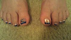 "Baby shower nails ""baby block n foot prints"""