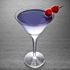 Aviation. 2 oz. Gin. .5 oz. Maraschino liqueur. .25 oz. Creme de violette or Creme Yvette. .75 oz. Lemon Juice. Garnish: Cherry (optional). Glass: Cocktail. Add all ingredients to a shaker and fill with ice. Shake, and strain into a cocktail glass. Garnish with a cherry if desired.