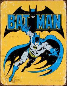 Batman Placa de lata