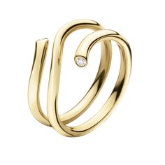 Georg Jensen MAGIC ring - 18 kt. yellow gold with brilliants $1200.  I would wear this on my thumb.