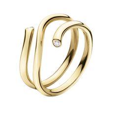 MAGIC ring - 18 kt. yellow gold with brilliants; Georg Jensen