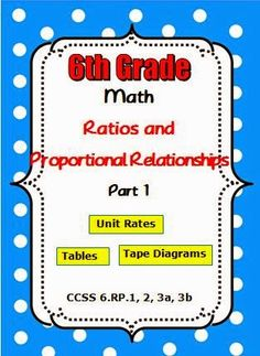 This resource will save you time as you use guided examples to teach your students. There are four teacher led lessons and one group activity involving ratios and rates. Many real-world application problems help your students apply concepts as they create tables, graphs, tape diagrams and equations. http://www.thebestofteacherentrepreneurs.net/2014/09/math-lesson-common-core-math-6th-grade.html