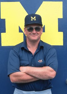 READY FOR MICHIGAN FOOTBALL......BO'S TRADITION not trend.......no  matte helmets!   THE TEAM, THE TEAM, THE TEAM!    Game on, Coach!   Michigan coach Bo Schembechler poses during a 1981 SI photo...