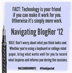 tech tips & tools for navigating #blogher