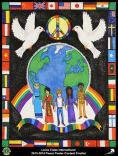 Finalist from Canada (Amaranth and Orangeville Lions Club) - 2013-2014 Peace Poster Contest
