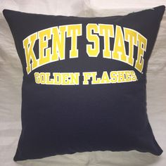 A personal favorite from my Etsy shop https://www.etsy.com/listing/477407798/kent-ohio-university-tshirt-pillow-16x16