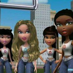 Kool Kat, Angel, Pretty Princess, and Bunny Boo Cartoon Edits, Cartoon Icons, Girl Cartoon, Cute Cartoon, Bratz Movie, Bratz Doll Outfits, Brat Doll, Bratz Girls, Cartoon Profile Pictures