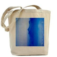 Abstract watercolor texture ombre Tote Bag> Abstract watercolor texture in blue ombre> Victory Ink Tshirts and Gifts