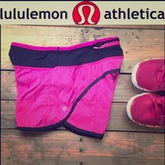 Lululemon pink shorts size 2 Pink Lululemon size 2 shorts for sale will trade for lulu sports bras  - @lanabooth21 photo credit. I will include a Lululemon reusable bag! lululemon athletica Pants