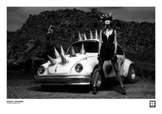 Art Car Central   Art Cars   Art Bikes   Art Vehicles   Videos: Punk Model and her VW beats LA traffic.