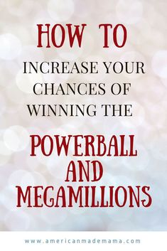 How to increase your chances of winning the Powerball or MegaMillions using math and statistics. Winning the lottery. Powerball and MegaMillions Winning Powerball, Lotto Winners, Lottery Winner, Winning The Lottery, Lucky Numbers For Lottery, Winning Lottery Numbers, Lotto Numbers, Lottery Strategy, Lottery Tips