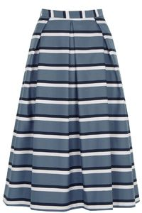 Swish your way through spring with our new favourite striped staple. Wear with a tucked-in tee, try an elegant off-the-shoulder or even a simple cami. you'll want to wear this midi skirt everywhere. Clothes Line, Clothes Horse, Holiday Wear, Latest Dress, Rock, Spring Summer 2016, Beautiful Outfits, Oasis, Midi Skirt